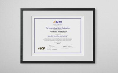 Dyplom zza oceanu – Coach ACC ICF